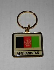 Wholesale Lot Of 10 Afghanistan Flag (New Flag) Metal Keychain, BRAND NEW