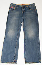 MENS SUPERDRY JEANS LOW RISE DITRESSED BLUE SIZE W32 L32 32/32