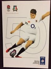 ENGLAND ITALY SIX NATIONS MATCH PROGRAMME FEBRUARY 2017