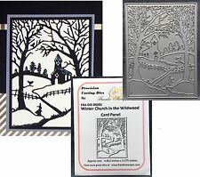 Christmas Frantic Stamper Dies WINTER CHURCH IN THE WILDWOODS die Holidays Snow