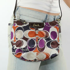 NEW Coach Ashley Hand Drawn Scarf Print Swingpack Crossbody Bag F48055 RARE