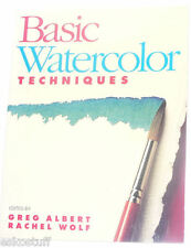 Basic Watercolor Techniques 1991 Nice Instruction Book! Nice SEE!