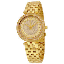 Michael Kors Mini Darci Crystal Pave Dial Gold-Tone Stainless Steel Ladies