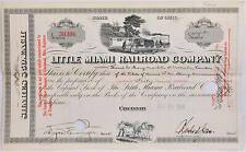 1933 Little Miami Railroad Company Stock Certificate 42 Shares Vintage Railway
