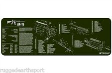 "AR-15 M-16 M4 Rifle GREEN TekMat 36"" Gun Cleaning Mat Parts Diagram 36-AR15-OD"