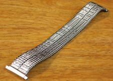 JB Champion 18mm 19mm 20mm 22mm Stainless Steel Silver Tone Stretch Watch Band
