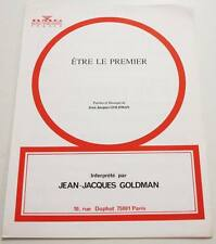 Partition sheet music JEAN-JACQUES GOLDMAN : Etre le Premier * 80's