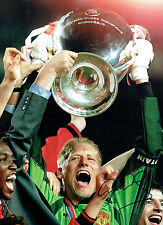 Peter SCHMEICHEL Signed Autograph Champions League Winner 16x12 Photo AFTAL COA