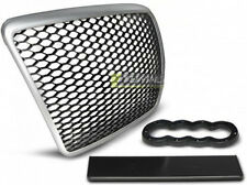 PARE CHOC, CALANDRE, GRILLE AUDI A6 C6 09-11 SILVER RS-STYLE