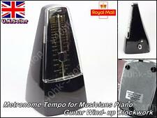 Cherub Metronome Tempo for Musicians Piano Guitar Windup Clockwork(Piano Black)