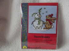 MOUSELOFT STITCHLETS CROSS STITCH KIT ~ SNOWBUNNY ~ CHRISTMAS ~ NEW