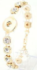 Gold Rhinestone Chain 20mm Snap Charm Bracelet For Ginger Snaps Jewelry
