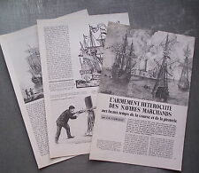 Document Armement navires marchands , piraterie, photos clipping