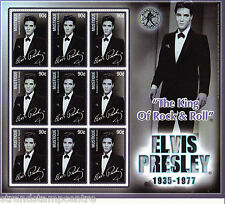 Elvis Presley The King UMM Stamp Sheet (Mustique)