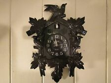 Vintage TELESONIC Faux CUCKOO CLOCK Battery Operated Quartz Movement Music Songs