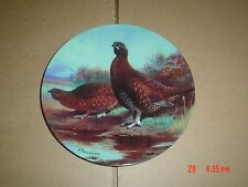 Bradford Exchange Collectors Plate RED GROUSE AMONGST THE HEATHER