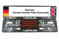 2 x NUMBER PLATE SURROUNDS LEXUS