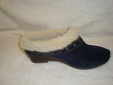 Sporto CATHY WATER RESISTANT suede Clog  Studs Booties  navy 6.5w