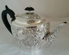 A fine quality Victorian sterling silver Tea pot. London1894. By William Comyns