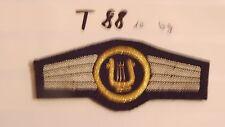 Bundeswehr TTA Militärmusikpersonal gold - blaugrau Handgestickt (t88-)