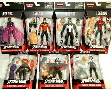 Marvel Legends SPIDER-MAN SET OF 7 ABSORBING BAF VENOM MORBIUS GWEN BEETLE JACK