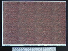 O gauge (1:48 scale) weathered brick -  self adhesive vinyl - A4