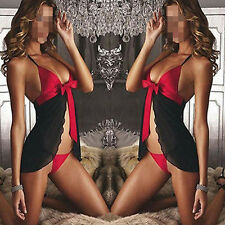 Hot Sexy Naughty Womens Lingerie Babydoll Nightwear Underwear Sleepwear+G-string