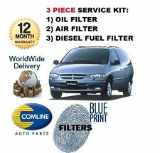 PER CHRYSLER GRAND VOYAGER 2.5DT 1997-2000 KIT FILTRI OLIO ARIA CARBURANTE