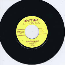 PHIL GRAY - BLUEST BOY IN TOWN / PEPPER HOT BABY (Killer NEW ROCKABILLY Repro)