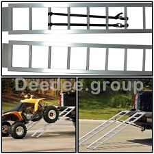 Aluminum Loading Ramps Truck Trailer Motorcycle ATV Bike Pickup Vehicle Cargo