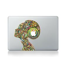 Psychedelic Lady Vinyl Sticker for Macbook (13/15), Laptop or Guitar / Macboo...