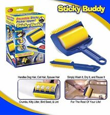Sticky Buddy Picker Cleaner Lint Roller Pet Hair Remover Brush Reusable One set