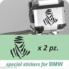 2 Adesivi Sticker Moto BMW R 1200 1150 1100 800 gs adventure Dakar Baule Valigie