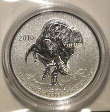 2016 $20 Dollar .9999 Fine Silver Dinosaur Tyrannosaurus Rex Commemmorative coin