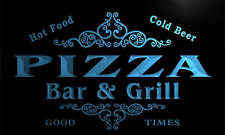u35310-b PIZZA Family Name Bar & Grill Home Brew Beer Neon Sign