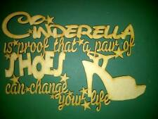 """Cinderella - a pair of shoes"" MDF blank plaque"