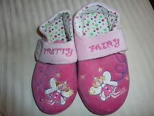 MOTHERCARE PRETTY FAIRY PLUSH GIRLS SLIPPERS SIZE 1 (EUR 33) PINK SOFT STARS