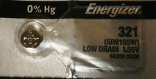 ENERGIZER 321 SR616SW SR616 SILVER OXIDE Watch Battery Authorized Seller