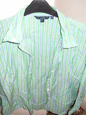 STYLISH GREEN STRIPED SHIRT BY BODEN 18 IN EXCELLENT CONDITION