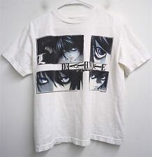 RARE! VTG DEATH NOTE 'L' Anime Series Shonen Jump t-shirt- XS kids youth SS#7546