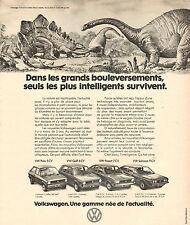 Publicité Advertising 1975  VOLKSWAGEN POLO GOLF PASSAT SCIROCCO  une gamme VW