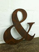 & Rusty Rusted Steel Metal Letter Industrial Sign Garden Decoration Ornament