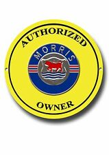 MORRIS CARS (AUTHORIZED OWNER ENAMELLED METAL SIGN).VINTAGE BRITISH CARS.