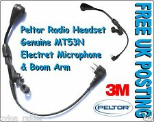 3M Peltor Radio Headset Genuine MT53N- Electret Microphone & Boom Arm FREE POST!