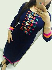 Selfie Style- Trendy Cotton Embroidary Neck Work Kurti