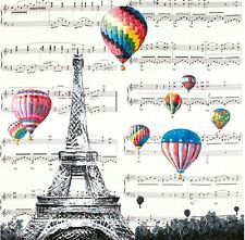Eiffel Tower Paris w Fire Balloons Canvas Print Art Painting Wall Home Decor