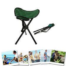 Outdoor Hiking Fishing Lawn Portable Pocket Folding Chair With 3 Legs Stool L