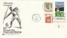 (35054) CLEARANCE USA FDC Olympic Games - Olympia WA 5 September 1979