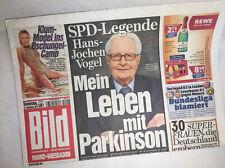 Bildzeitung vom 27.11.2014 * Geschenk zur Geburt * Hans Jochen Vogel * Parkinson