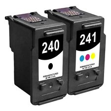 2-PACK Reman Black/Color Ink Cartridges for Canon PIXMA MX432 Wireless Printer